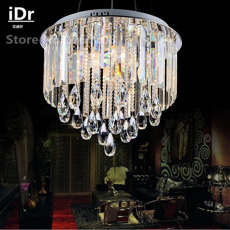 Round European luxury bedroom led Chandeliers lamp crystal lamp living room restaurant High-grade light 90-260V