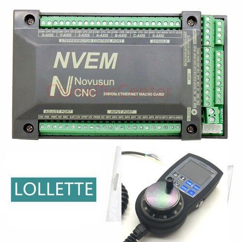 Nvem 6 Axis Cnc Controller 200khz Ethernet Mach3 Motion Control Card 6 Axis Nvmpg Lcd Manual Pulse Generator Aliexpress Com Imall Com