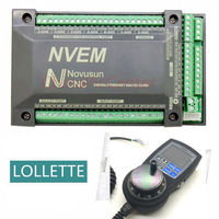 NVEM 6 axis CNC Controller 200KHZ Ethernet MACH3 Motion Control Card + 6 Axis NVMPG LCD Manual Pulse Generator