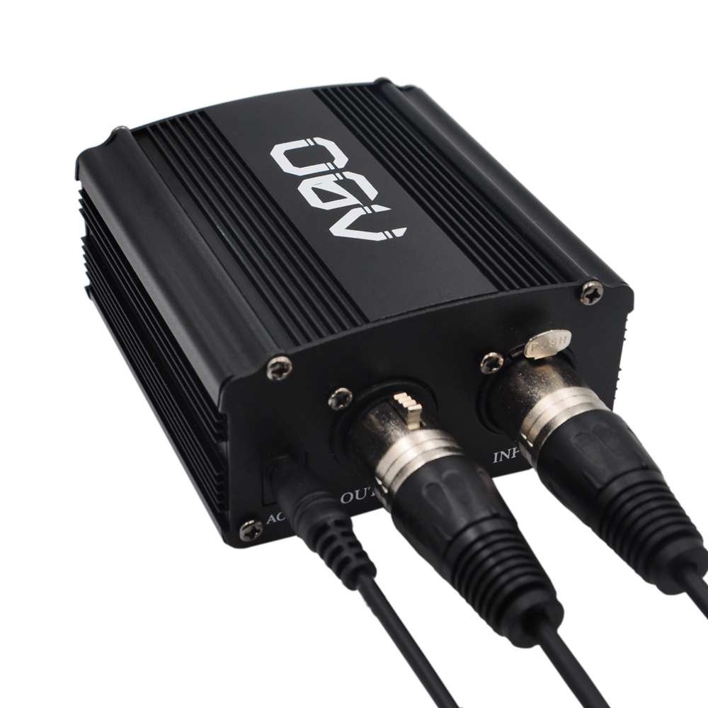 48V Phantom Power Supply with Adapter, BONUS+XLR 2M Pin Microphone Cable for Any Condenser Microphone Music Recording Equipment  professional lapel violin condenser microphone music instrument microfone phantom connector for shure wireless system xlr mini