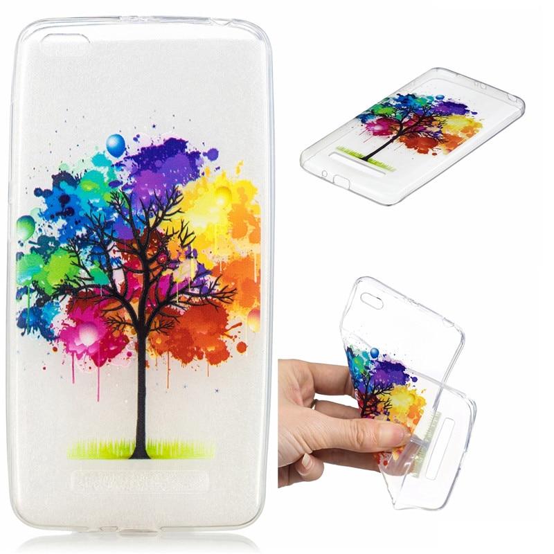 100 pièces TPU coque en silicone pour Xiaomi Redmi 4A housse de téléphone coloré peint étui de protection arrière pour Xiaomi Redmi 4A Funda