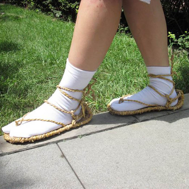 Envío Gratis Cosplay Bleach Kurosaki Ichigo Cosplay Zapatos De Paja Straw Sandalias del Deslizador de Costumbre Cultura Japonesa Kimono