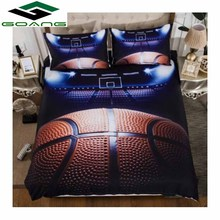GOANG Bedding Sets 2/3pcs 3D Duvet Cover Bed Sheet Pillow Cases Size EU/CN/US Queen King Basketball Boys room decoration