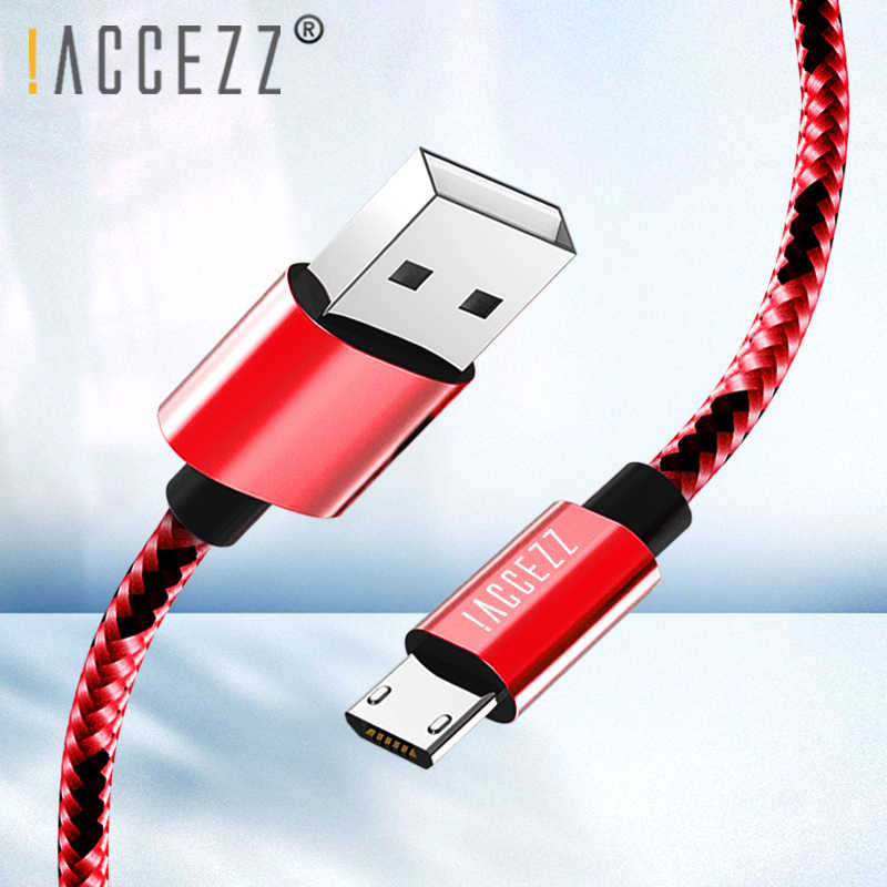 ! Accezz USB Kabel Data Android MICRO USB untuk Samsung Galaxy S7 S6 Edge Huawei Xiaomi Redmi 4 Ponsel Pengisian Kabel kabel Charger