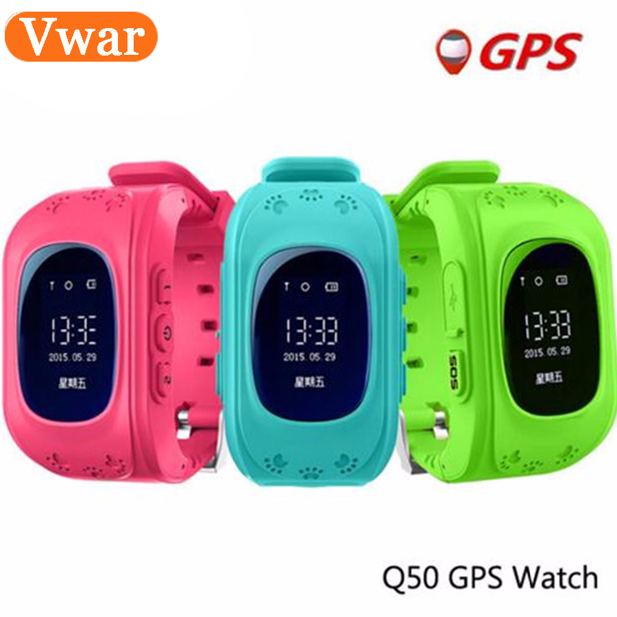 6 colors Vwar Original Q50 GPS Smart Kids Safe smart Watch Wristwatch SOS Call Location Finder