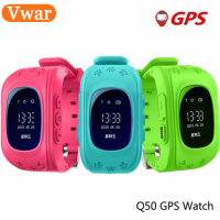 Black White Original Q50 GPS Smart Kids Safe Smart Watch Wristwatch SOS Call Location Finder Locator