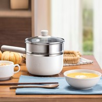 220V Multifunctional Portable Electric Cooking Pot Frying Pan Mini Electric Hot Pot 1.2L Multi Cooker For Breakfast Maker