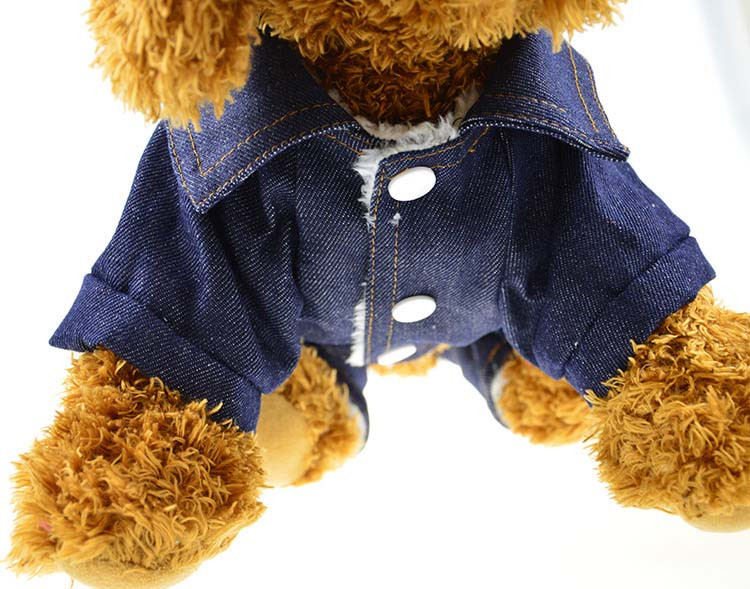 Thick Winter Pet Jeans Clothes Dog Coat Jumpsuit Overalls For Small and Large Dogs High Quality Dog Jeans Apparel Factory Outlet12