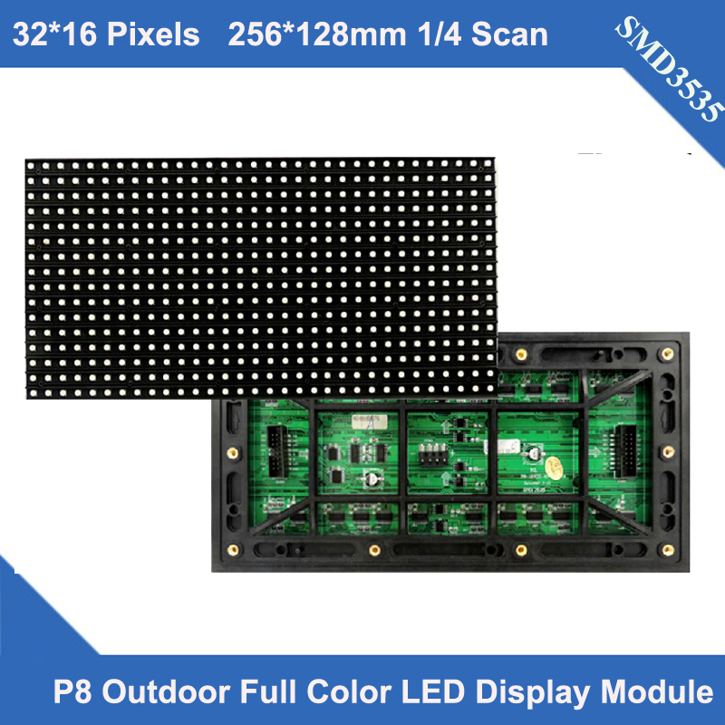 kaler Hot high quality P8 full color led module outdoor SMD3535 3in1 32*16 pixels 1/4 scan RGB display Video led screen modulekaler Hot high quality P8 full color led module outdoor SMD3535 3in1 32*16 pixels 1/4 scan RGB display Video led screen module