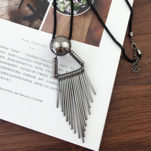 Long Chain Personality Tassel Necklace