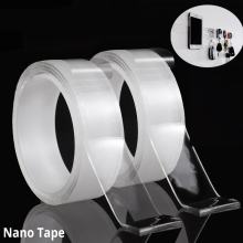 Multifunctional Double Sided Tape Nano Transparent No Trace Acrylic Magic Cleanable Reuse Waterproof Adhesive