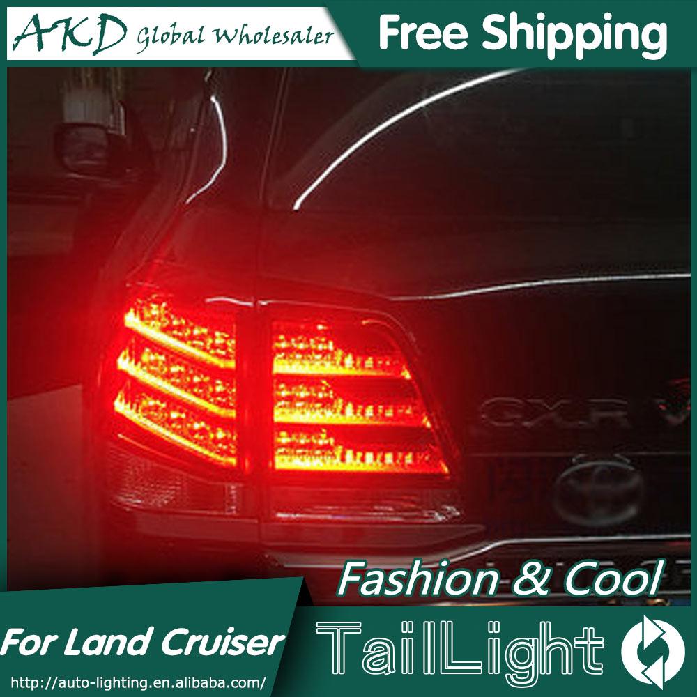 AKD автомобильный Стайлинг для Toyota Land Cruiser задние фонари 2012 Land Cruiser светодиодный задний фонарь DRL + тормоз + Парк + сигнал