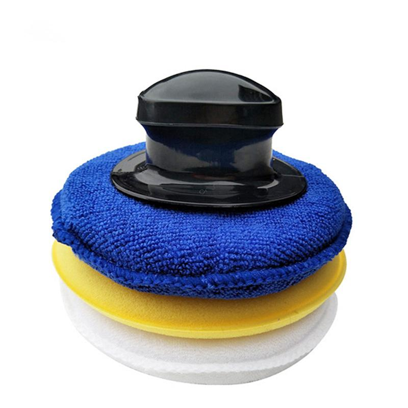 4pcs Round Sponge Wax Applicator Pads Cleaning Detailing Pads for Vehicle Cleaning