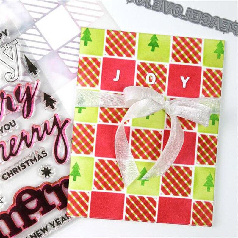 YaMinSanNiO Holidays Tiles Cutaways Words Metal Cutting Dies New 2019 Dies Scrapbooking for Card Making Stencil Crafts Die Cut in Cutting Dies from Home Garden