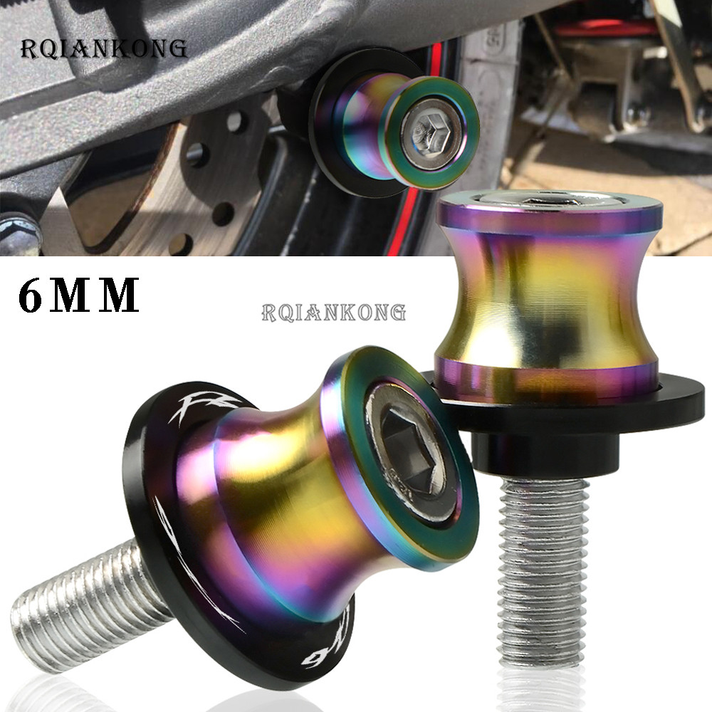 6MM Motorcycle Swingarm Sliders Spools Stand Screws Swing Arm Protector For <font><b>Yamaha</b></font> FZS600 FZ6 2005 2006 <font><b>2007</b></font> 2008 FZS 600 FZ <font><b>6</b></font> image