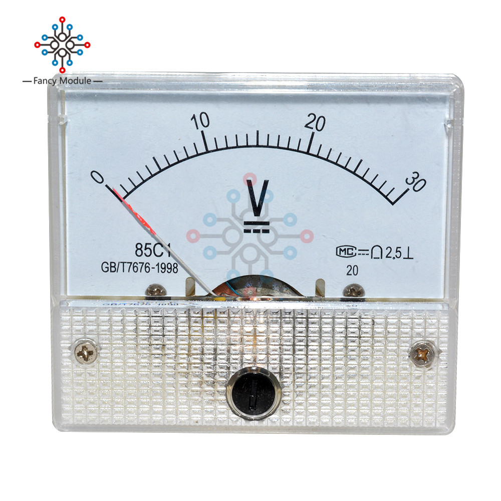 Professional <font><b>DC</b></font> <font><b>0</b></font>-30/<font><b>0</b></font>-50V Analog Volt Panel Voltage Meter Voltmeter Gauge image