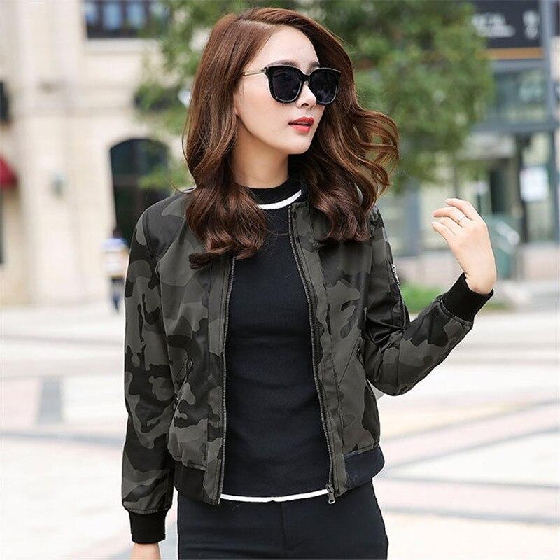 Moto Vestes Courte Pu Camouflage Cuir Tops Mode Q099 Femmes Armygreen De black 2018 En Baseball Ioqrcjv Survêtement Printemps HFzzqX