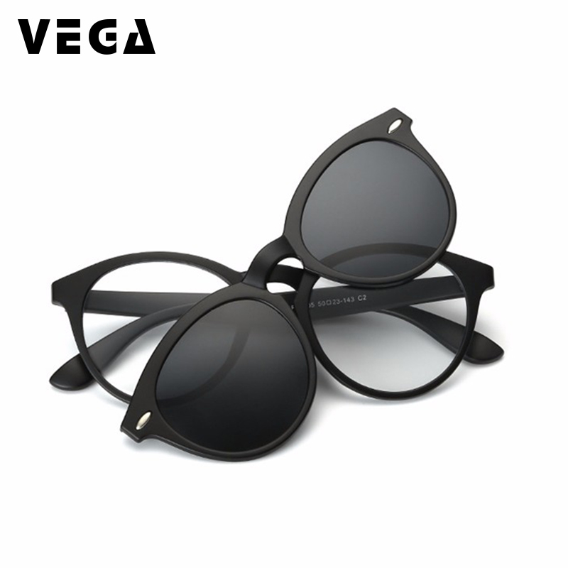 VEGA polariziran posnetek na sončna očala za okvirje očal Okvirji očala s sponko na sončna očala Magnetna očala Moški Ženske 956