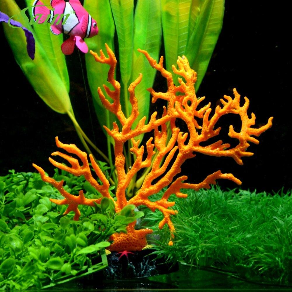 Artificial aquarium fish tank - 6 3 Aquarium Fish Tank Artificial Plants Silicone Coral Fake Aquarium Fish Tank Decoration For Home