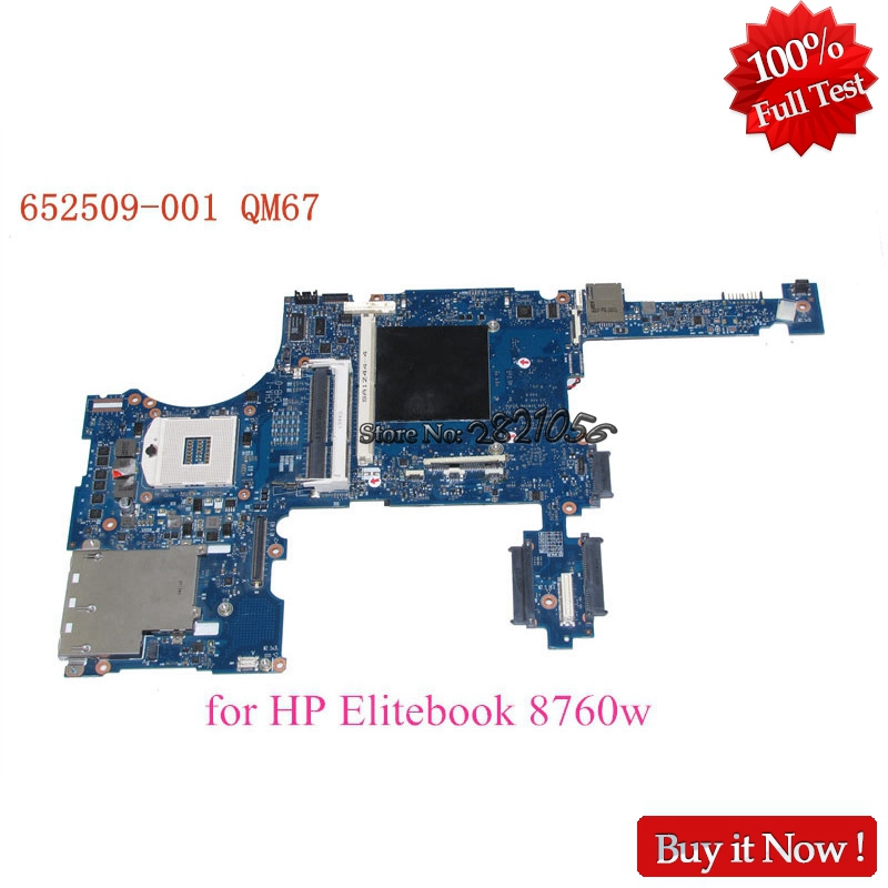 Nokotion PC Mainboard 652509-001 For EliteBook 8760W laptop motherboard QM67 DDR3 Full Tested nokotion 646669 001 laptop motherboard for hp 630 631 635 intel ddr3 mainboard full tested