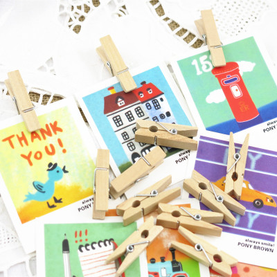 50pcs lot Small Wooden Clips rustic Wedding decoration Room Home Kitchen TV Garden decora birthday Party DIY supplies in Party DIY Decorations from Home Garden