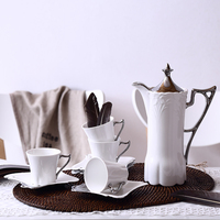 Fashion tea set coffee ceramic wedding gifts british royal tea set western style coffee cup set
