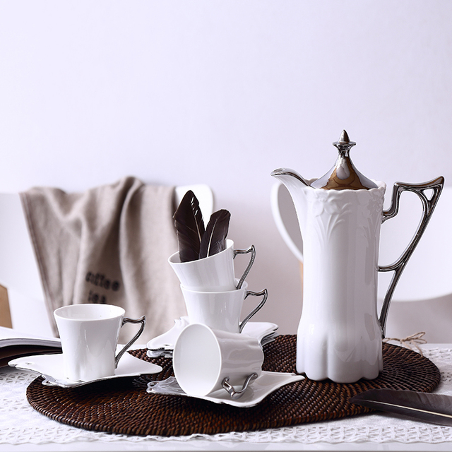 Fashion Tea Set Coffee Ceramic Wedding Gifts British Royal Western Style Cup