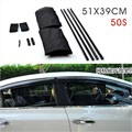 2Pcs/set New Black Mesh Fabric Car Auto 50S Window Curtain Sunshade Set UV Protection Side Window Curtain 51 x 39cm