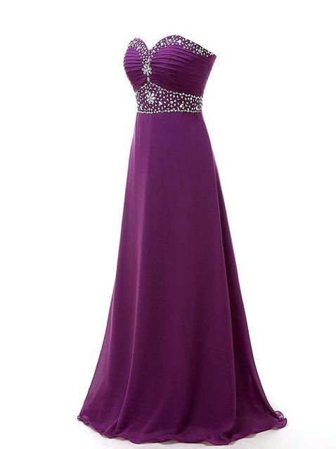 MDBRIDAL Longo Prom Vestido de Festa com Beading Uma Longa Linha Chiffon Mulheres Formal Vestidos em Rosa Roxo Amarelo Preto Azul Royal