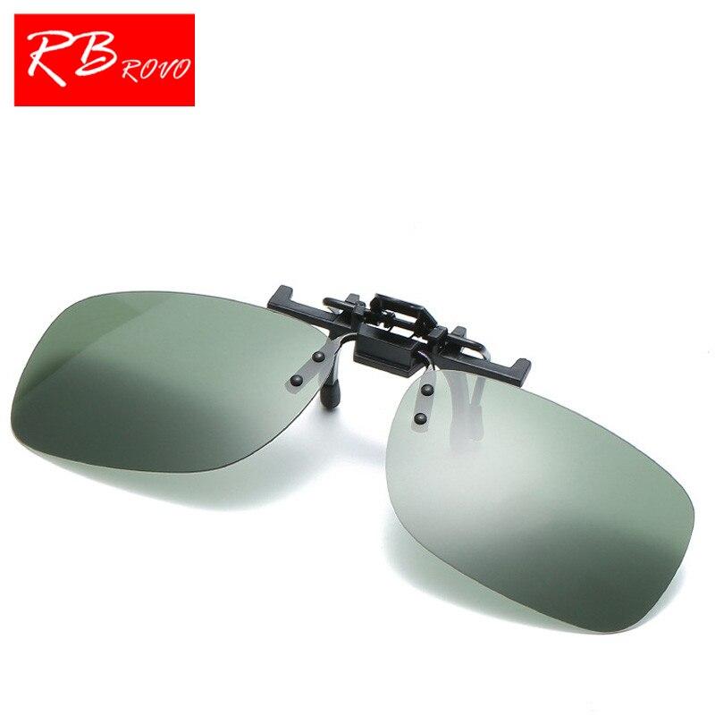 RBROVO Summer Polarized Sunglasses Clip Men/Women Top Brand Designer Sun Glasses HD Lens Retro Shopping Driving Glasses UV400
