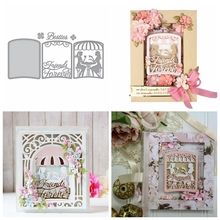 Layered Friends Forever Cafe Scene Metal Cutting Dies Stencil For DIY Scrapbooking Decorative Embossing Paper Cards Die