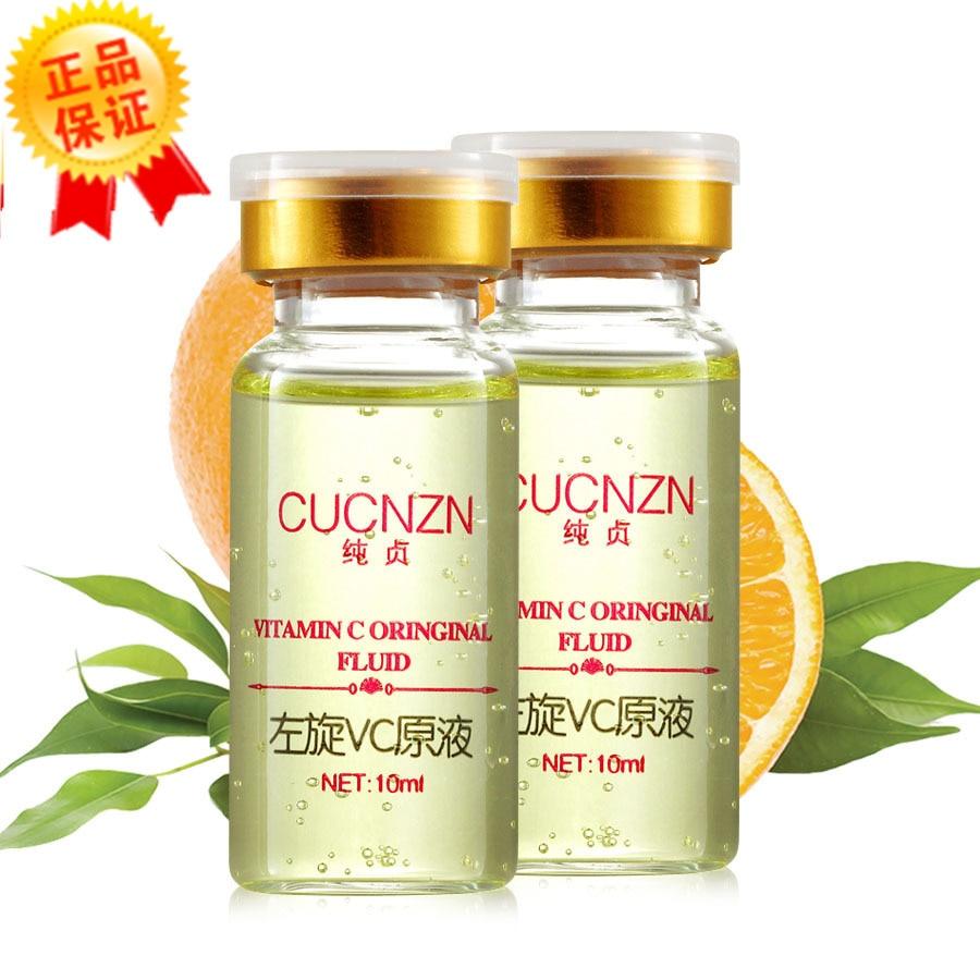 CUCNZN Hyaluronic Acid Vitamin C Fluid Extract Anti-Aging Hydrating Moisturizers Whitening Skin Care Face Care Cream Serum 10ml