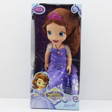 1 Pcs Retail New Arrival 30cm The First Princess Sofia Plush Doll Toys Soft Plush Doll