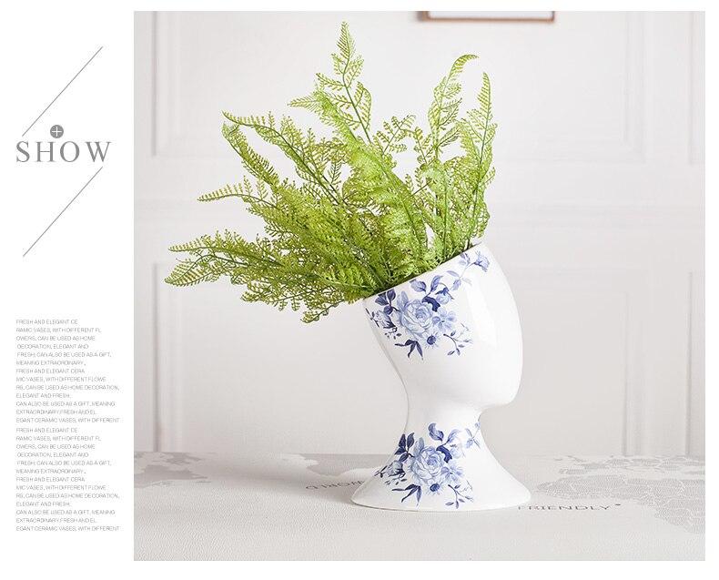 White Blossom Head Flower Vase - Bed & Bath