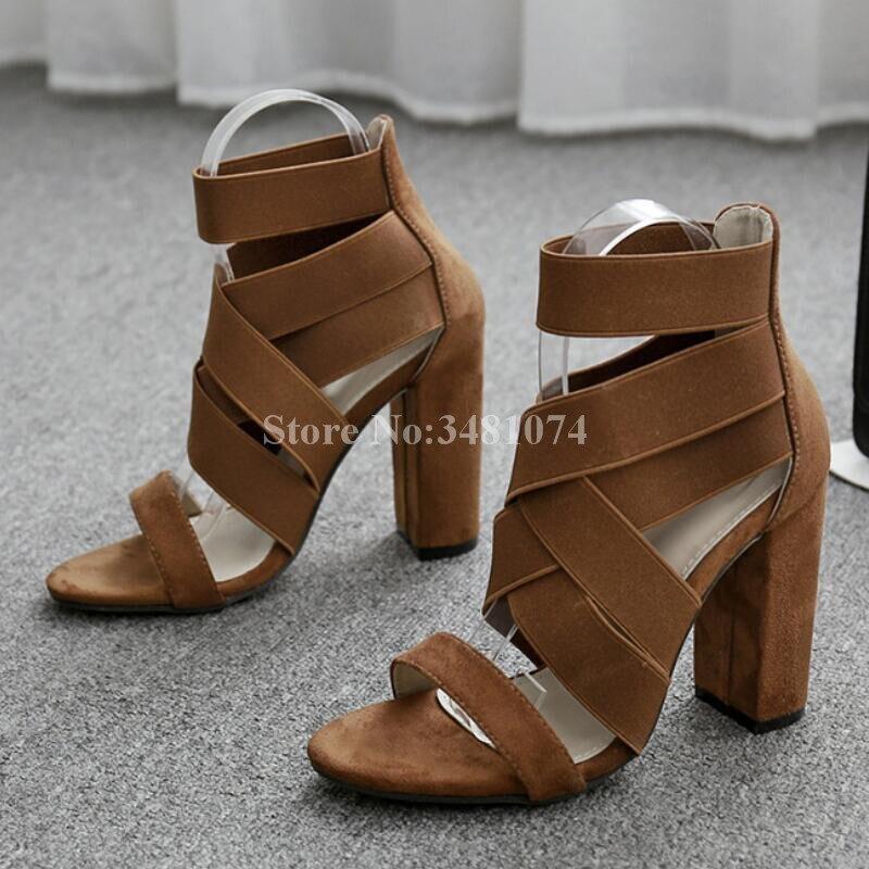 Picture Sexy Cubierta Verano Rebaño Zapatos Más Las Picture Pie abierta De As Alto Del Mujeres Tacón as Moda Cuadrado Dedo Sandalias UdwqUP