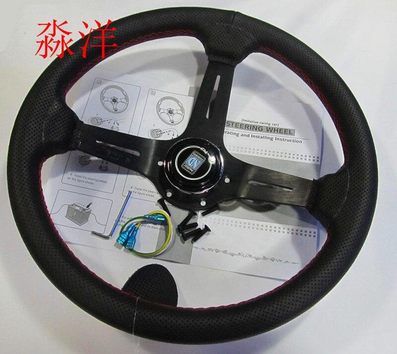 14 (350mm) ND Steering Wheel  Leather red line Steering Wheel light deep Racing Steering Wheel Aluminum shelf14 (350mm) ND Steering Wheel  Leather red line Steering Wheel light deep Racing Steering Wheel Aluminum shelf