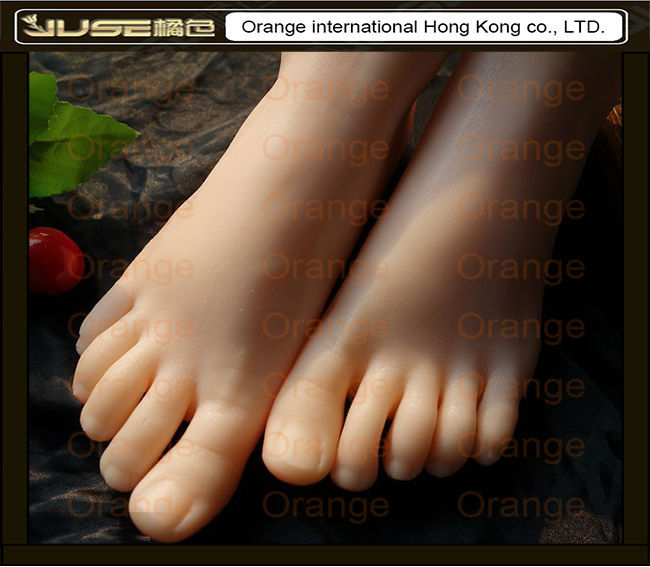 2015 New Top Quality Foot Fetish Toys,Solid Silicone Female Feet, Feet Fetish Toys for Man,Lifelike Skin Woman Fake Feet,FT-3601 image