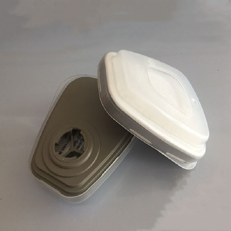 Gas Mask Filter Combination 5N11 Filter Cotton 2PCS 501 Filter Cover 2PCS 603 Filter Same As 3M Adapter Replace Accessories