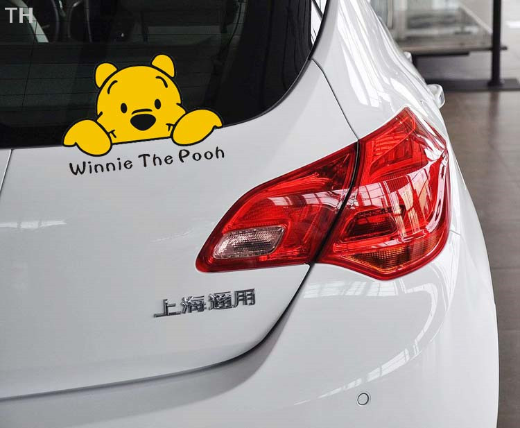 Winnie The Pooh Series Car Stickers Lovely Rear Window Or Body Car - Car rear window stickers