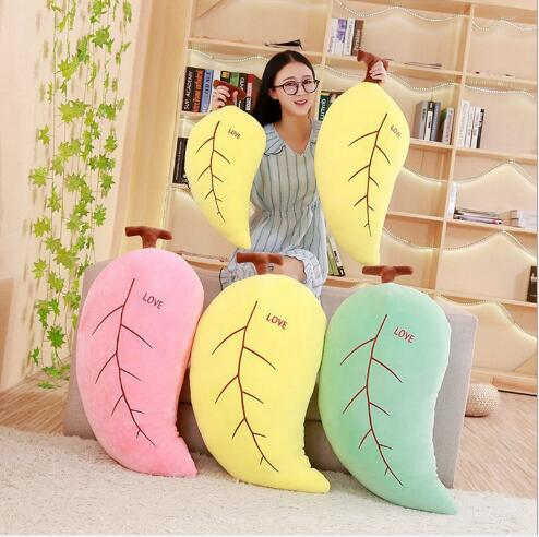 WYZHY leaf doll pillow Plush toy sofa decoration to send friends and children gifts 50CM
