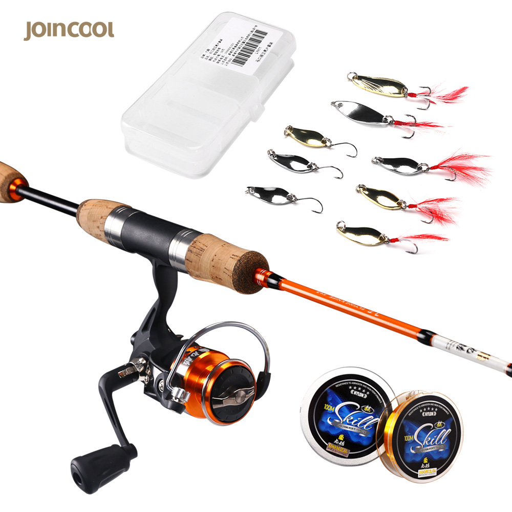 Jincool Lure Spinning Fishing Rod Combos  L/UL Power 1.68M 1.8M 2 Section High Carbon Fiber Fishing Rod Fishing Tackle men s slim fit round collar pullover long sleeves geometric pattern sweater