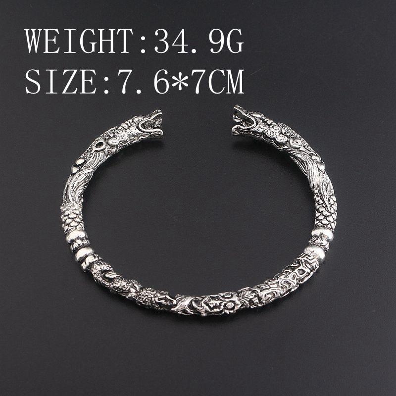 2017 Nouveau Viking Steampunk Biker Tête de loup tête de dragon Hommes Femmes Bracelets et Bracelets Cosplay talisman Bijoux Bracelets bracelet