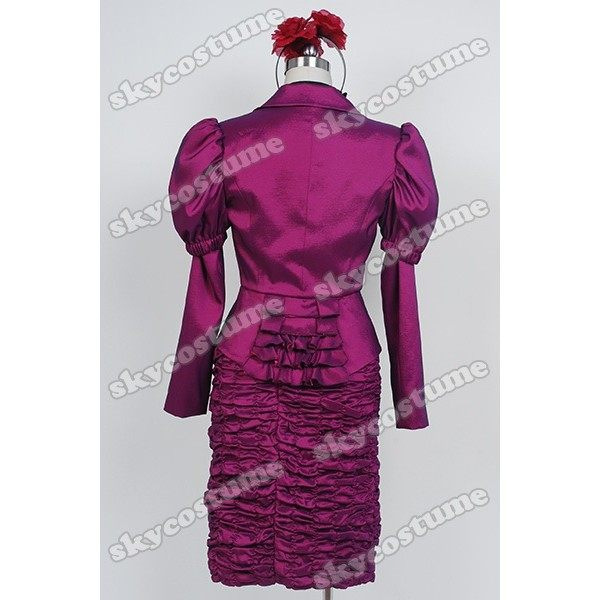 the hunger games effie trinket purple uniform dress cosplay costume