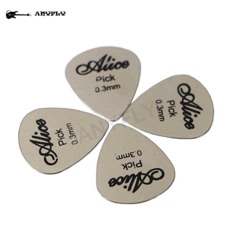 5шт медиаторов из нержавеющей стали треугольной формы для  гитары электрической рок  0.3 мм+ 1шт медиатор держатель