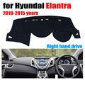 Tampa do painel do carro mat para Hyundai Elantra 2010-2015 anos de mão Direita drive dashmat pad tampa do traço auto dashboard acessórios
