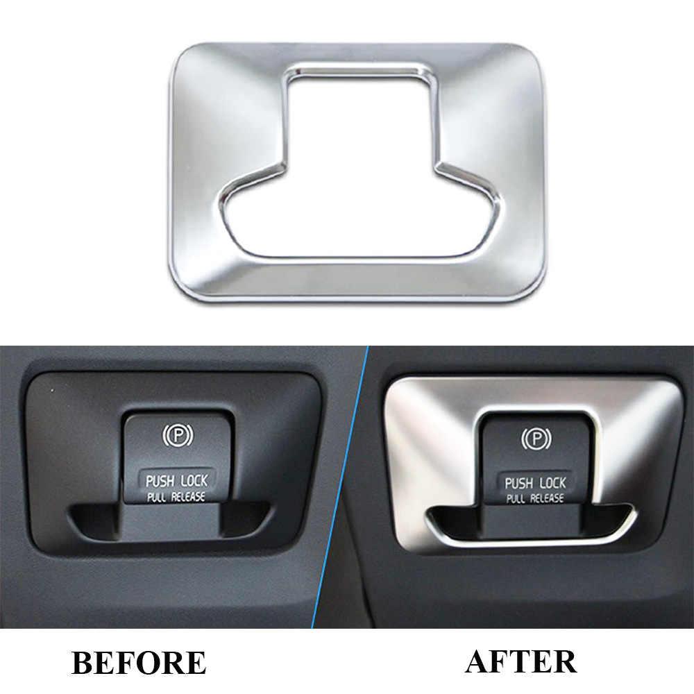 ABS Chrome Điện Tử Phanh Tay Nút Bảng Viền Dành Cho Volvo XC60 V60 XC70 S60 S80 2010 2011 2012 2013 2014 2015