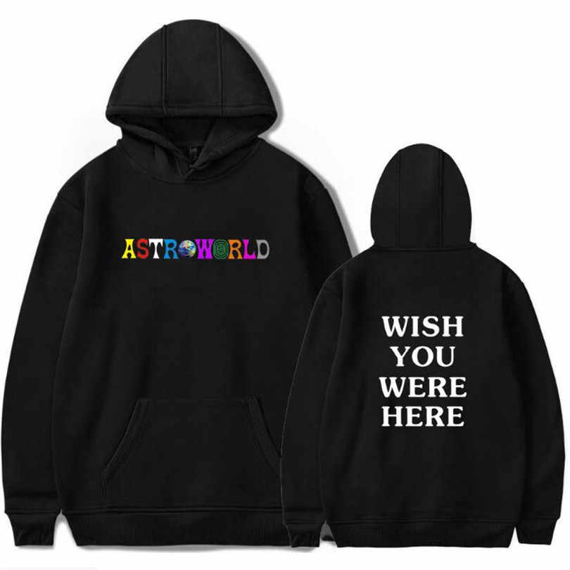 Travis Scott Astroworld WISH YOU WERE HERE hoodies fashion letter print Hoodie streetwear Man and woman Pullover Sweatshirt
