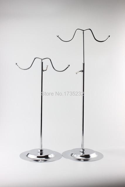 Duplo ganchos gancho curvo luz de suspensão Ajustável estante bolsa lenços De Seda saco gancho cabide peruca acessórios para móveis