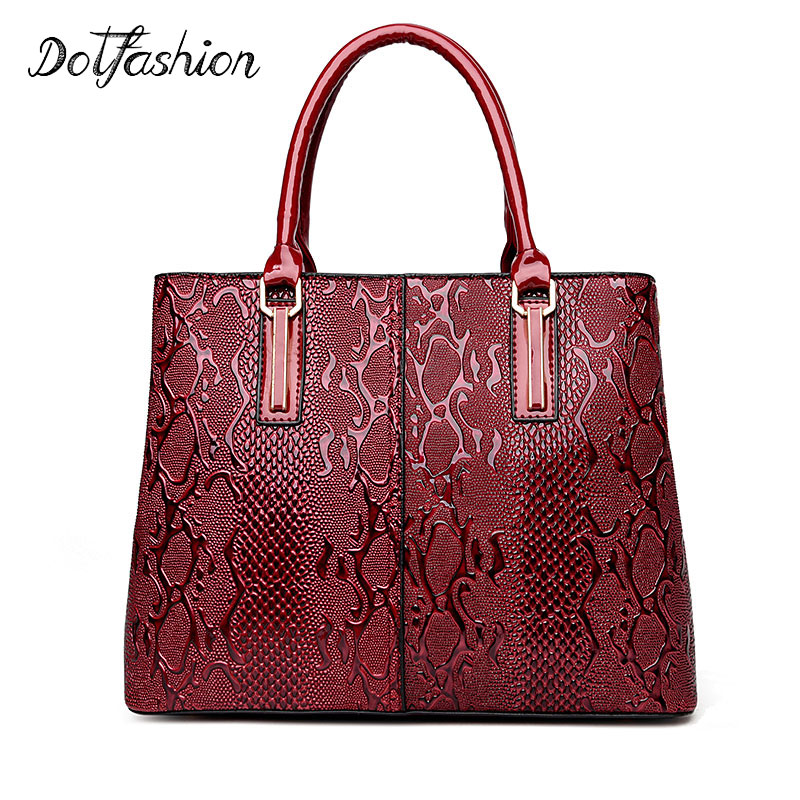 2017 New Fashion Ladies Tote Bag PU Leather Serpentine Women Bag Quality Designer Handbags Ladies Luxury Snake Shoulder Bags new mini luxury tiger head 3d relief designer alligator serpentine women handbags shoulder leather bags tote bag