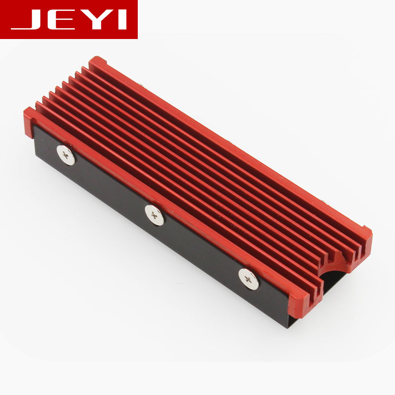 JEYI Cooling Warship Gold Bar NVME NGFF M.2 2280 Aluminum Sheet Dust-proof Thermal Conductivity Silicon Wafer Cooling